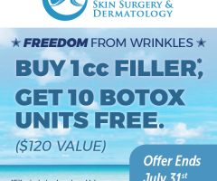 Purchase 1 cc of Filler ~ Receive 10 Botox Units FREE